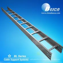 Fabricante de alumínio da bandeja da escada do cabo de Aluminio com tampa (UL, cUL, NEMA, GV, CEI, CE, ISO testado)