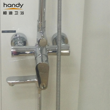 Set Mixer Shower Chrome gagang tunggal