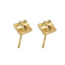95957 xuping simples elegante 24 k ouro cor ambiental cobre senhoras brincos