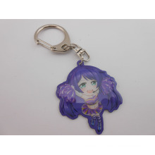 Cosplay Image Offset-Printing Keychain with Epoxy-Dripping Logo (GZHY-KC-003)