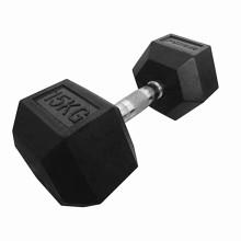 Fitness home gym dumbbell rubber hex dumbbell dumbbells logo
