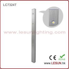 Luz del caso de la exhibición de plata / negro 4W LED para el gabinete de la joyería LC7324t