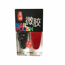 Two Colors Nail Polish In Glass Bottle As One Set