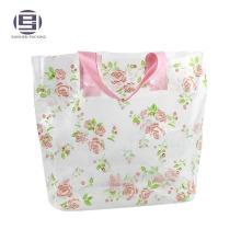 Huge Durable Wholesale Clear HDPE Loop Handle Bag logo plastic