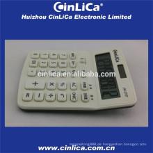 Großer LCD-Display-Taschenrechner weiß mit Steuerfunktion
