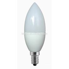 5W dimmable lâmpada LED C37 vela E14 / E27 base levou lâmpadas
