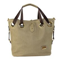 2015 Ladies Laser PU Handbag with Webbing Handles