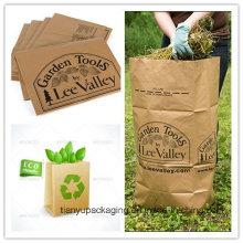 Eco-Friendly Leaf Trash Kraft Paper Bag