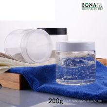 200 ml Pet Clear Jar avec bouchon à vis en plastique