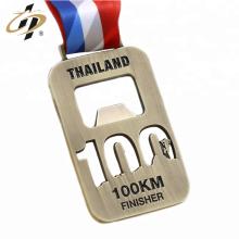 Custom bottle opener marathon metal medal
