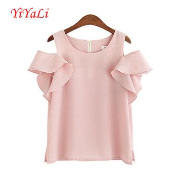 Мода рябить женщин шифон футболку