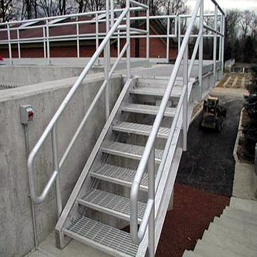 Steel Grid Stairs