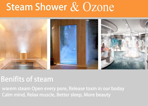 Luxury Multifunctional Whirlpool Steam Glass Shower Room