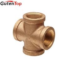 GutenTop высокое качество Латунь четыре пути креста штуцера трубы тройника для воды нефти газа