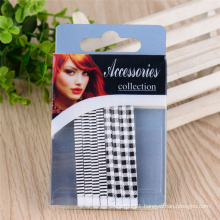 Women Fashion Colorful Painted 6.5cm Metal Hair Bob Pins (JE1006-1)