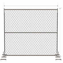 Inexpensive Galvnanized Canada Temporary Fence with Accessories Sale on Ebay