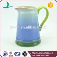 YSj0001-02 jarro de cerâmica azul para casa de banho