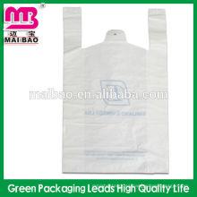 Bolso negro modificado para requisitos particulares del bolso de la camiseta de la impresión del bolso de la camiseta del material ambiental estupendo del chaleco