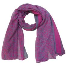 Senhora moda poliéster impresso lenço de seda primavera (yky4217)
