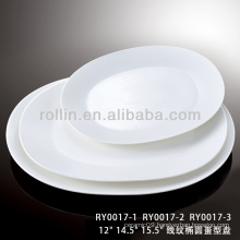 healthy special durable white porcelain egg shaped plate