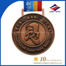 Kundenspezifische Sportmedaille Metall Runde Kupfer Award Medaille für Souvenir