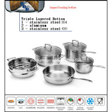 Network TV Sale Waterless Greaseless Stainless Steel Cookware