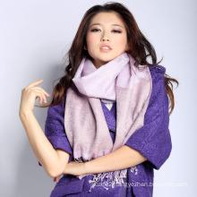 Silk & Acrylic Jacquard Scarf (12-BR010220-21.1)