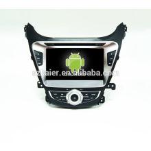 ¡DVD de coche CALIENTE con enlace de espejo / DVR / TPMS / OBD2 para pantalla táctil de 8 pulgadas con cuatro núcleos Sistema Android 4.4 HYUNDAI ELANTRA