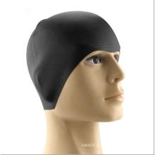 Touca de natação de silicone impermeável de alta qualidade para cabelos compridos