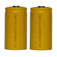 NI-CD rechargeable battery Size D industrial package blister card package also can be offered