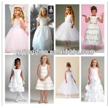 Art- und Weiseblumen-Mädchen-Kleid-Muster-Großverkauf-Baby-Sommer-Kleid mit Bogen-Rückseite