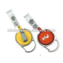 Plastikkarabiner-Abzeichenrolle mit Clip