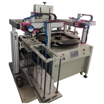 Automatic screen printing machine for acrylic sheets