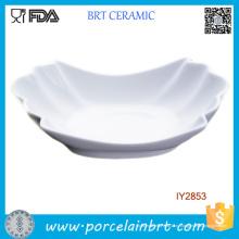 Керамическая Белая Фарфоровая Тарелка Костяного Фарфора