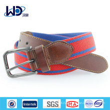 Fashion Men Genuine Cowhide Leather with Fabric Belt