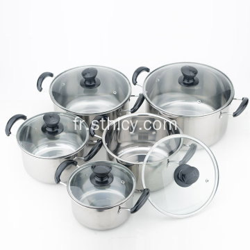 Qualité Multiclad Inox Casseroles Set En Gros