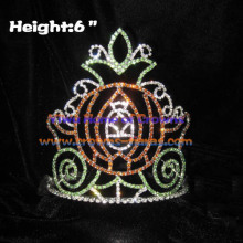 6inch Crystal Halloween Pumpkin Carriage Crowns