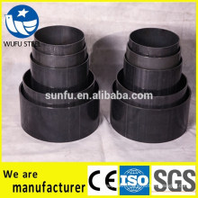 China supplier circle round shaped S235JR steel pipe sizes