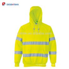 Chine Usine Réfléchissante Vêtements Sweat à capuche de sécurité en automne Salut Visibilité Road Work Hoodie ANSI 3