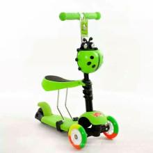3 roda dobrável crianças kick scooter com cores diferentes