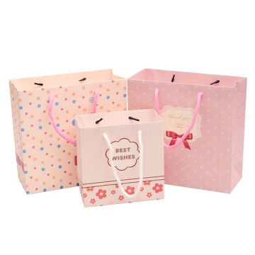 paper bag custom printed with handle for shopping