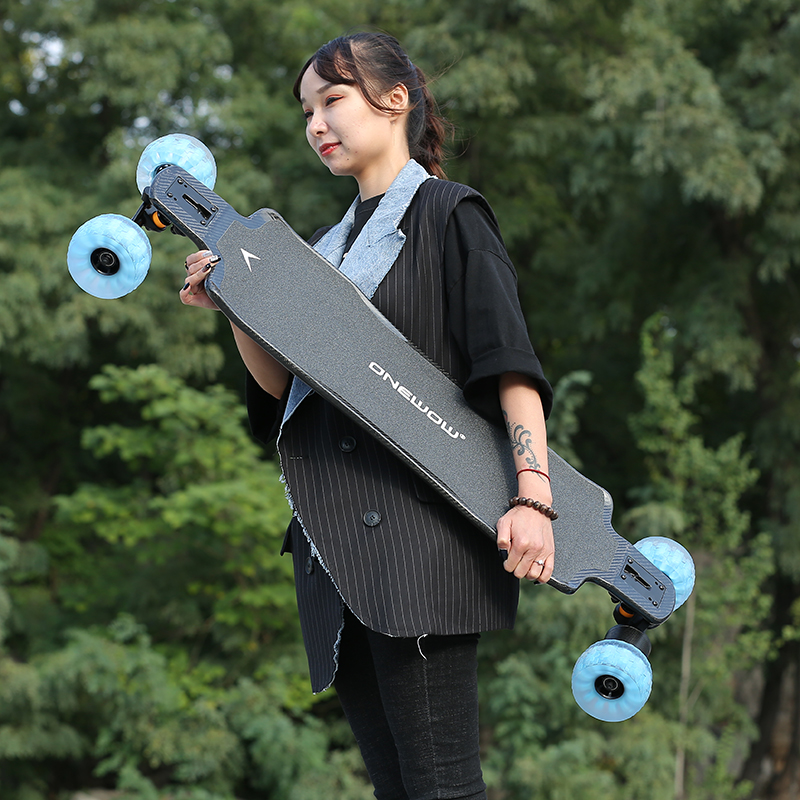 electric longboard with direct drive motor