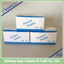Almofada de preparação de álcool não tecido estéril 2ply médica