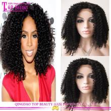 Цены завода короткие человеческих волос кудрявый вьющиеся кружева передние парики