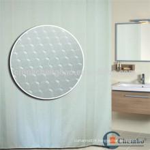 High grade hotel c hook jacquard shower curtain liner