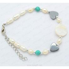 hematite MOP bracelet