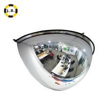 Espejo de seguridad con medio domo de 180 grados (tres direcciones)