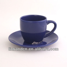 KC-03006blue tea cup with saucer,high quality coffee cup mug