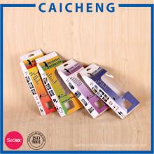 Boîte de papier d'emballage électronique se pliante faite sur commande de haute qualité avec la fenêtre de PVC
