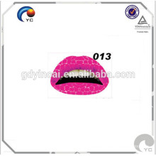 Adhesive tattoos for skin series lipstick tattoo for makeup
